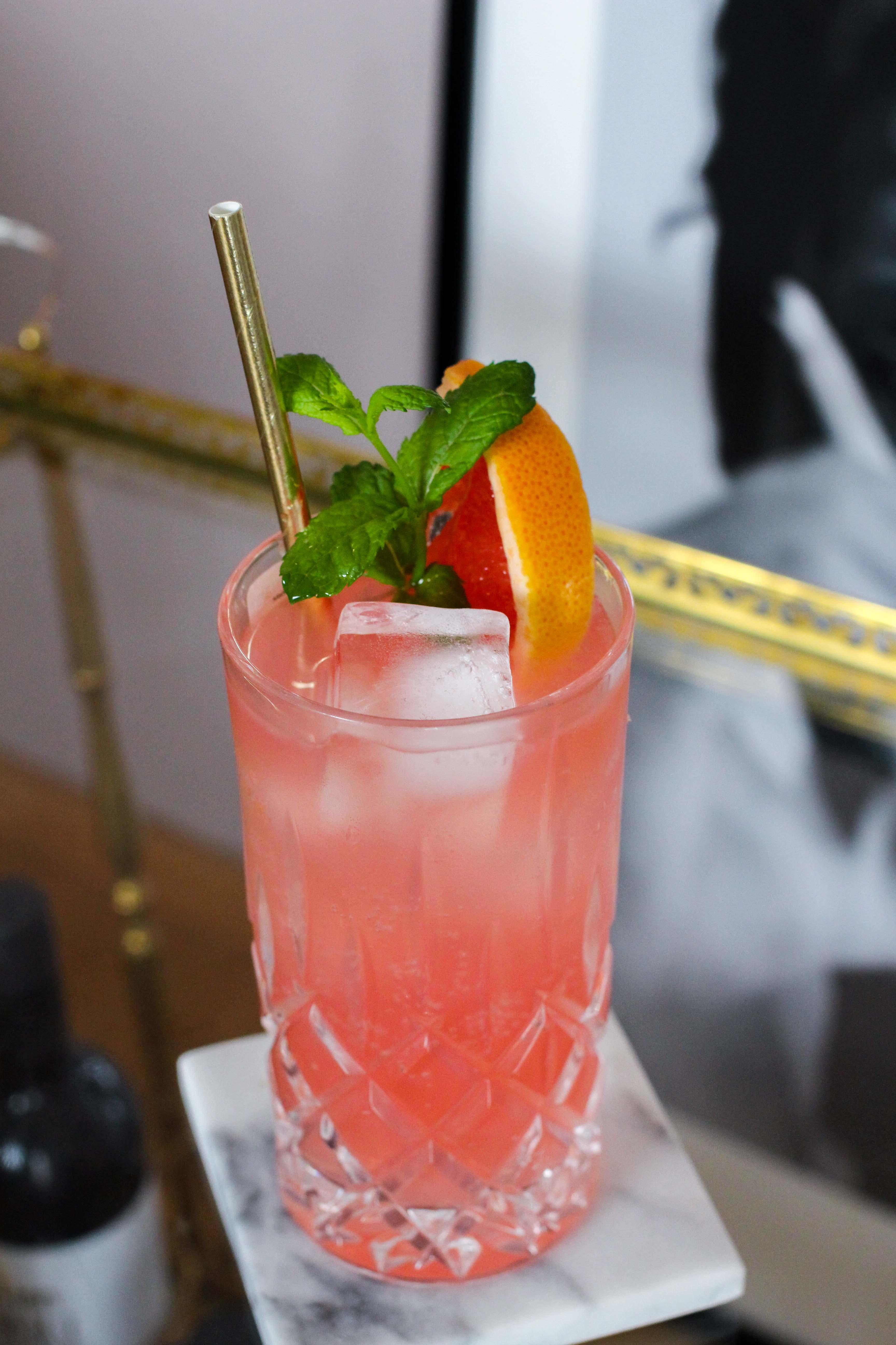 30ster Geburtstag Gin Rezept Siegfried Gin Cocktail BrinisFashionBook Dirty30 Grapefruit Highball Wonderleaf 2