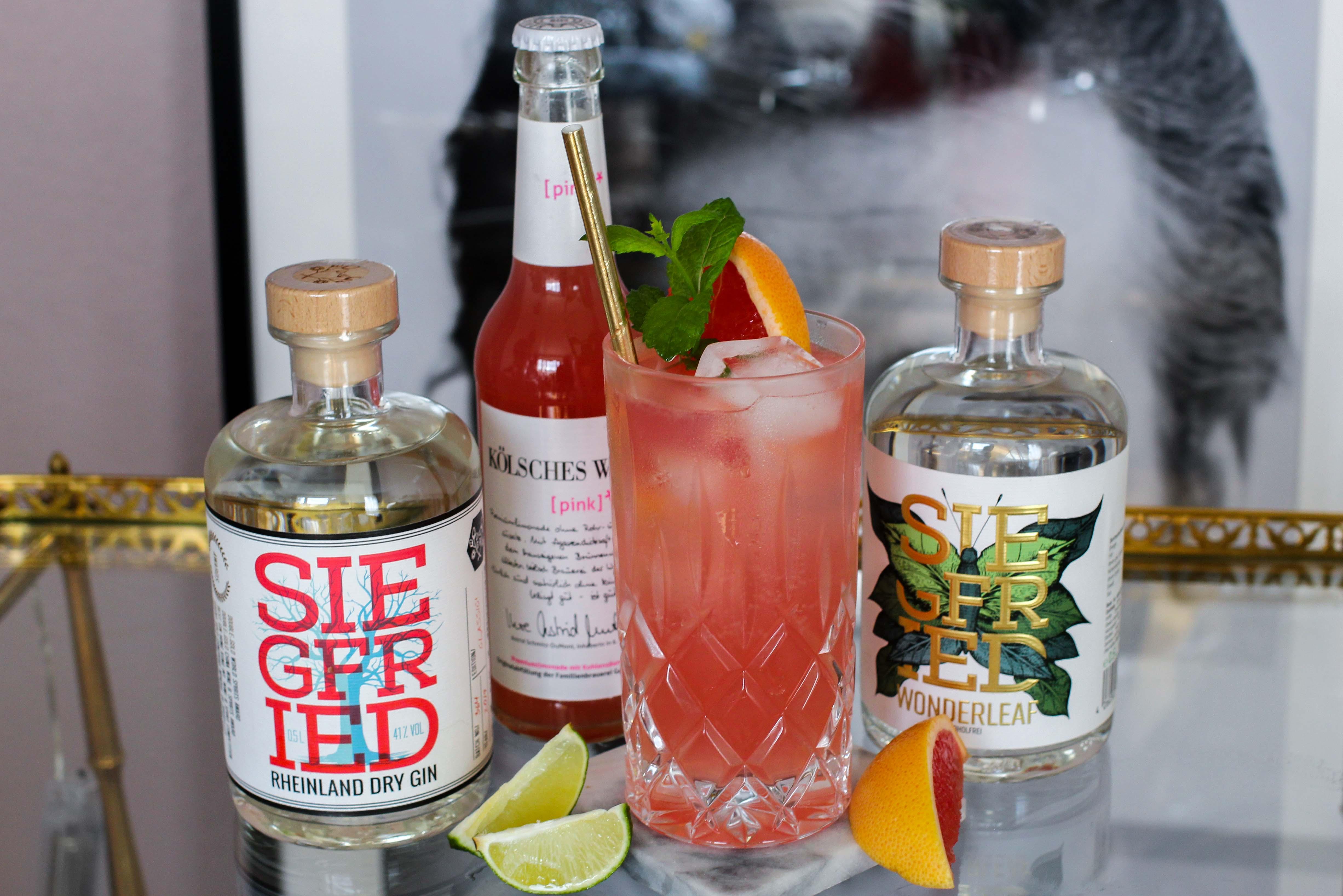 30ster Geburtstag Gin Rezept Siegfried Gin Cocktail BrinisFashionBook Dirty30 Grapefruit Highball Wonderleaf Sünner Limonade