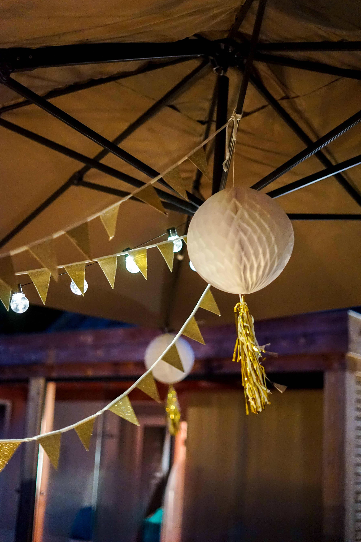 Motto 30ster Geburtstag Ibiza Golden Boho Partydekoration HEMA Geburtstagsdeko Girlande Lampignons 7