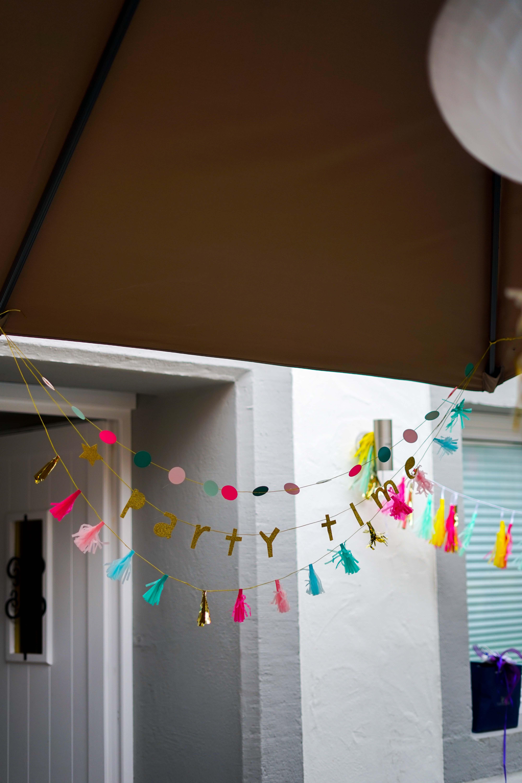 Motto 30ster Geburtstag Ibiza Golden Boho Partydekoration HEMA Geburtstagsdeko Girlande party time