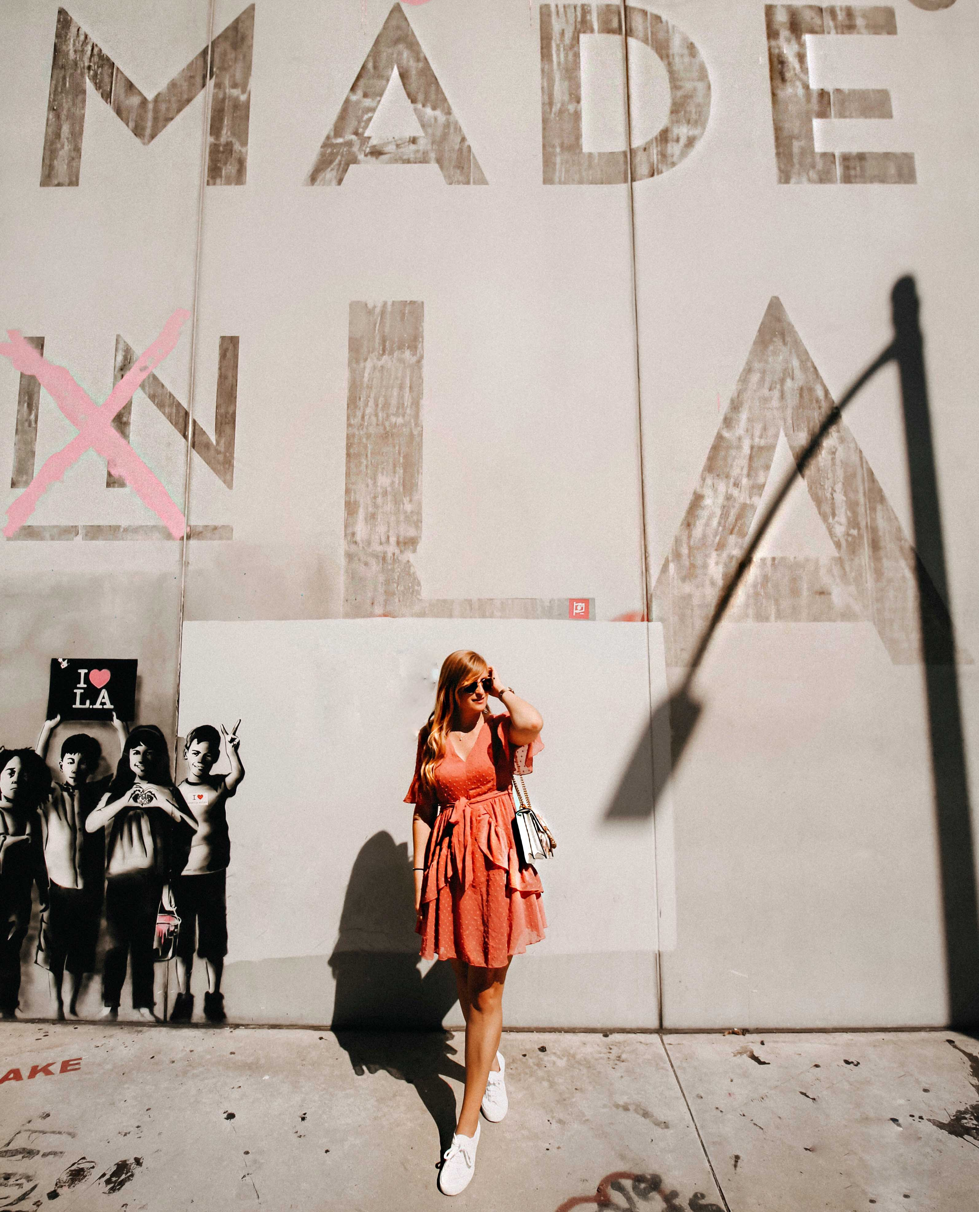Top Insider Tipps Los Angeles Melrose Avenue Graffiti Wand Mde in LA Instagram Spots Reiseblog