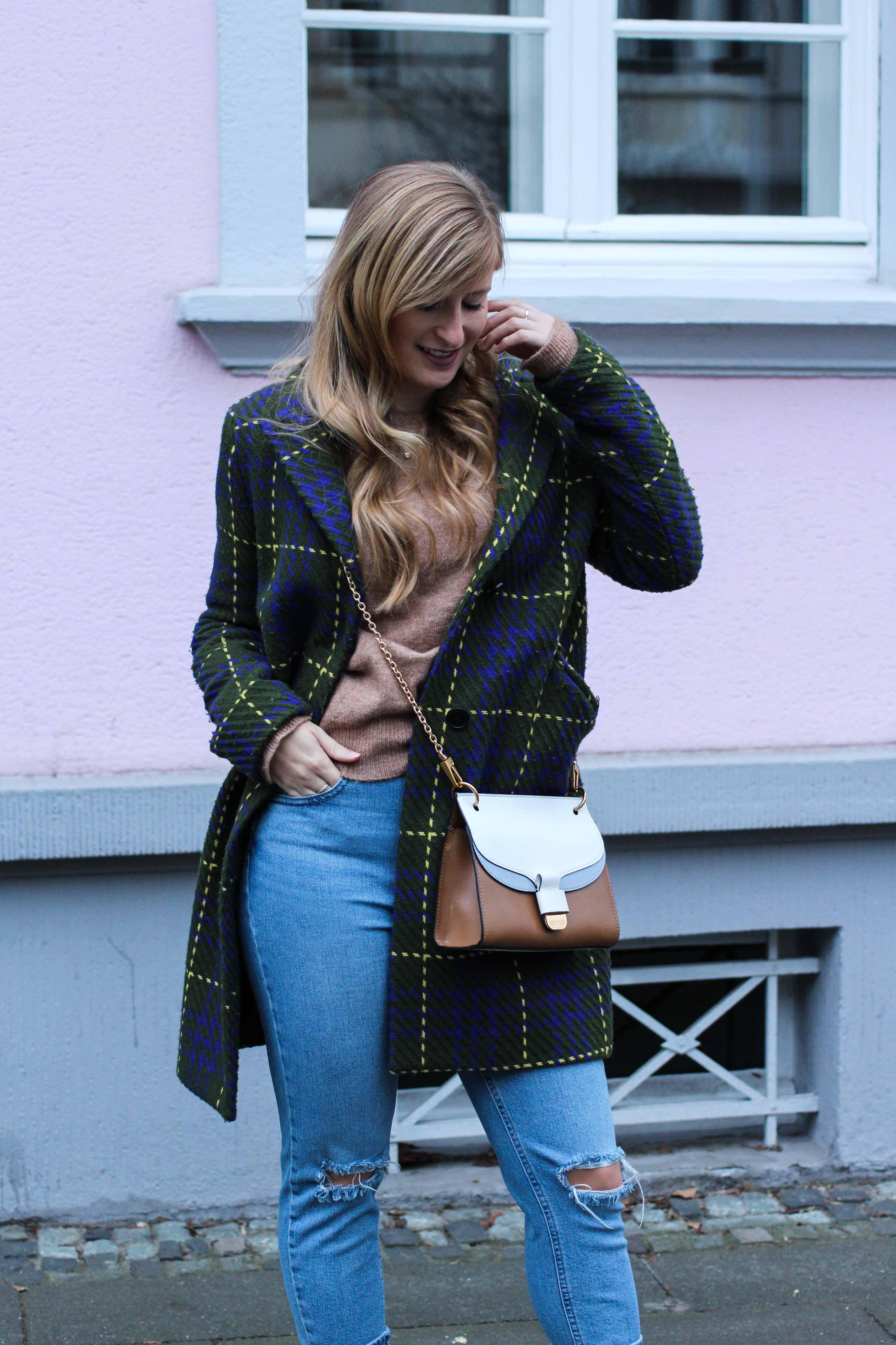 Herbst Must-Have 2019 Karomantel. Herbstmode Herbsttrend Mantel karriert Modeblog Outfit Herbst Fashion Blog Bonn 2