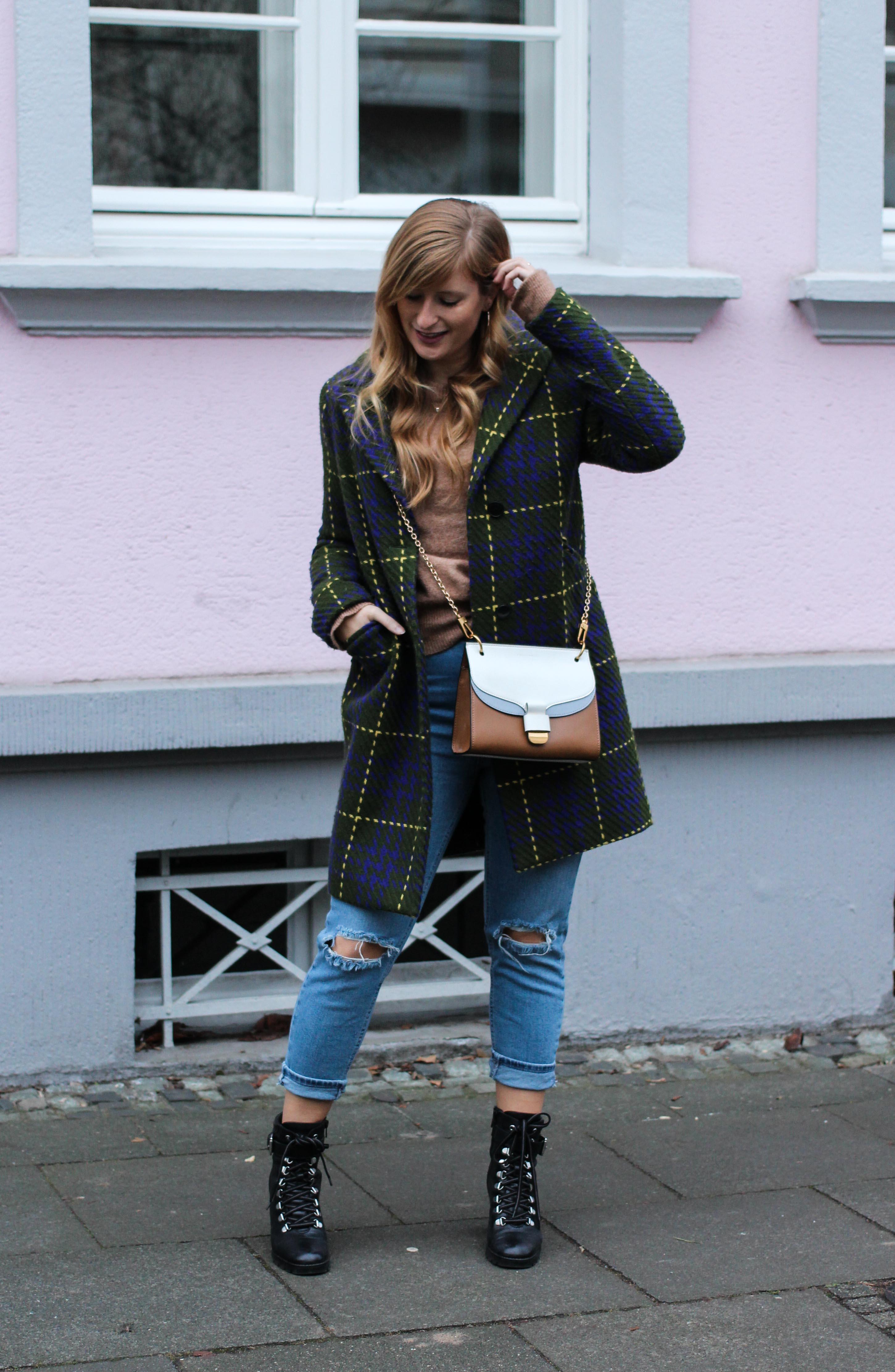 Herbst Must-Have 2019 Karomantel. Herbstmode Herbsttrend Mantel karriert Modeblog Outfit Herbst Fashion Blog Bonn 5