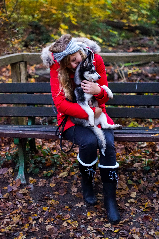 Winterstiefel Trend 2019 Wintertrends Winter Outfit Gummistiefel gefüttert wandern Hund Pomsky Kottenforst Bonn Blog 4