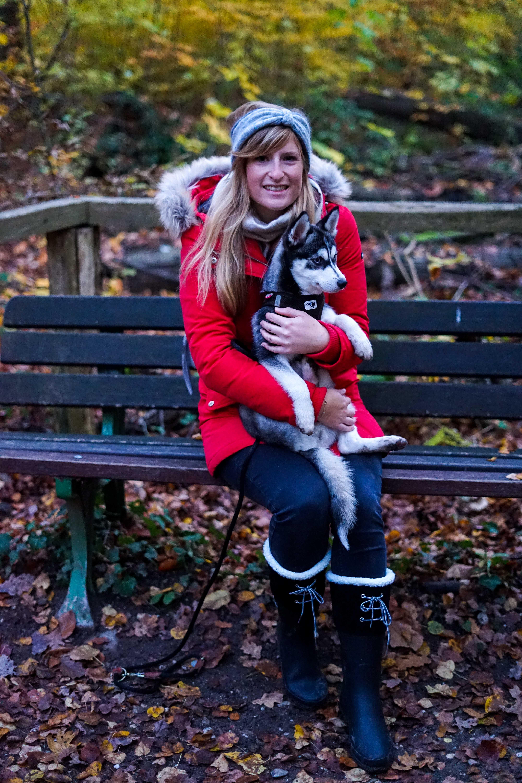 Winterstiefel Trend 2019 Wintertrends Winter Outfit Gummistiefel gefüttert wandern Hund Pomsky Kottenforst Bonn Blog 91