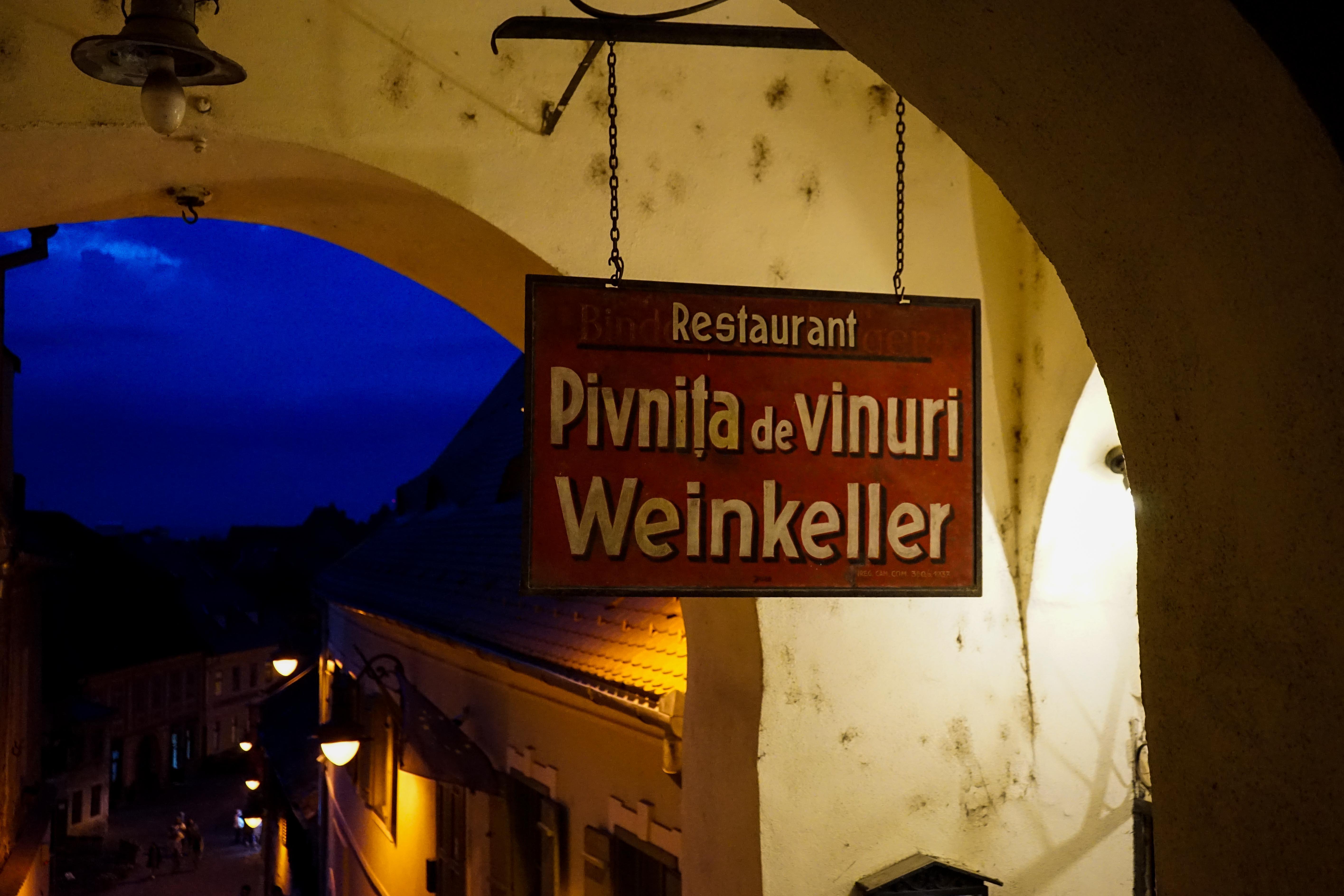 Restaurant Tipps Hermannstadt Sibiu Rumänien Insider Tipps Pivnita de vinuri Weinkeller Reiseblog