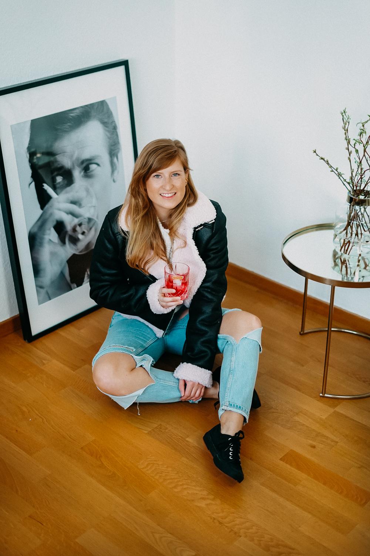 Modeblog Brinisfashionbook Fashion Blog Deutschland Umzug Gedanken Ripped Jeans Aviator Jacke 2