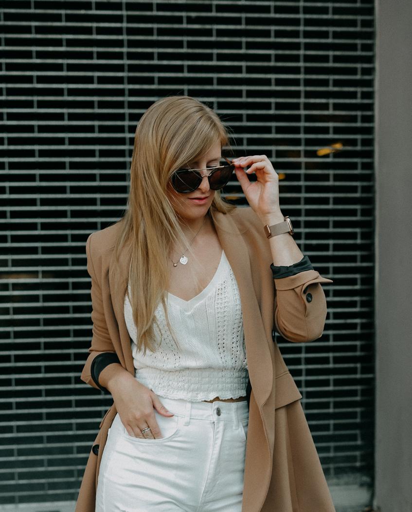 Sommeroutfit Monochrom Look All White Blazer kombinieren Sommer Modeblog Fashion Blog Köln 6