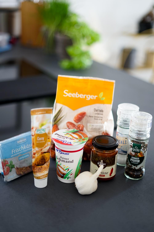 Rezept Dattelcreme Dip ohne Thermomix der perfekte Dip alle Anlässe Currypulver Paste Zutaten