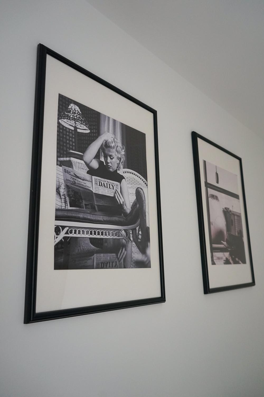 Schlafzimmer Ideen Inspiration Schlafzimmer gestalten skandinavisch Schwarz Weiß Bilder Posterlounge Marylin Monroe 2
