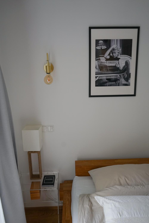 Schlafzimmer Ideen Inspiration Schlafzimmer gestalten skandinavisch Schwarz Weiß Bilder Posterlounge Marylin Monroe 3