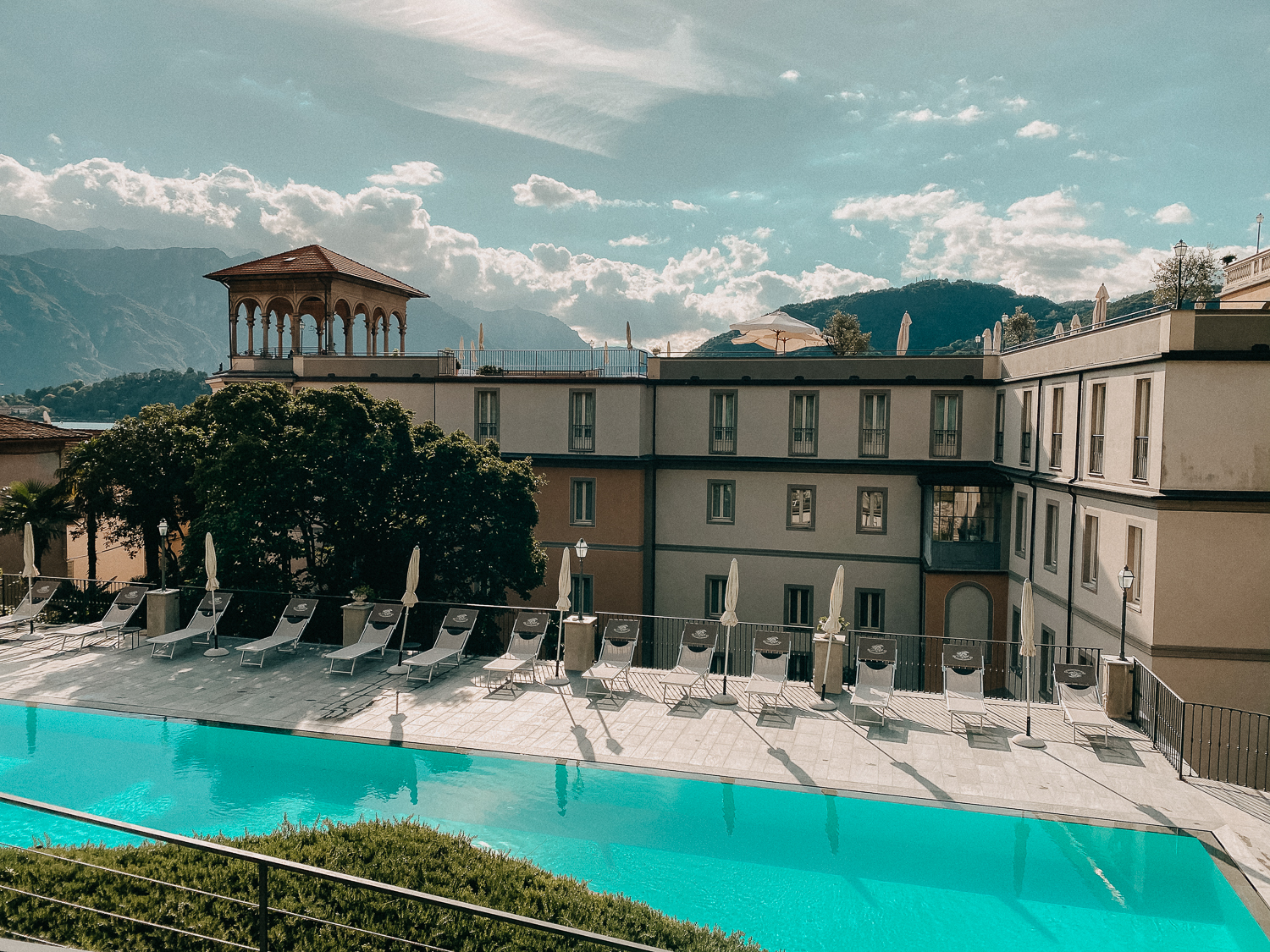 Comer See Hotel Grand Hotel Cadenabbia italienischer Charme Reiseblog Hotel Tipps Seeblick Comer See Pool
