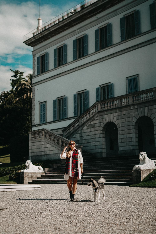Herbstlook Cardigan Burberry Schal Karo Pomsky Modeblog Bellagio Herbst Outfit 8