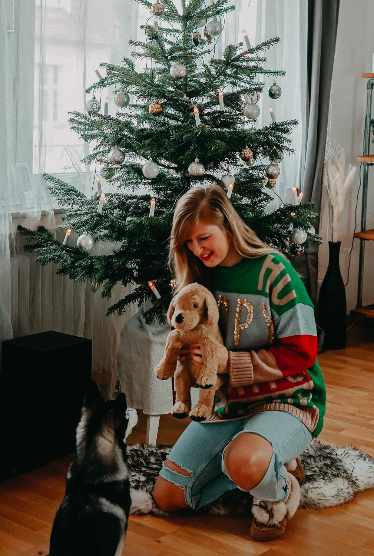 Weihnachtsoutfit Weihnachtspullover Christmas Sweater Oversized Pomsky Weihnachtsbaum 5