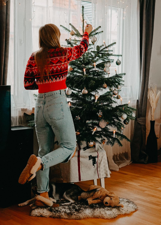 Weihnachtsoutfit Weihnachtspullover Christmas Sweater Rollkragenpullover Norwegermuster