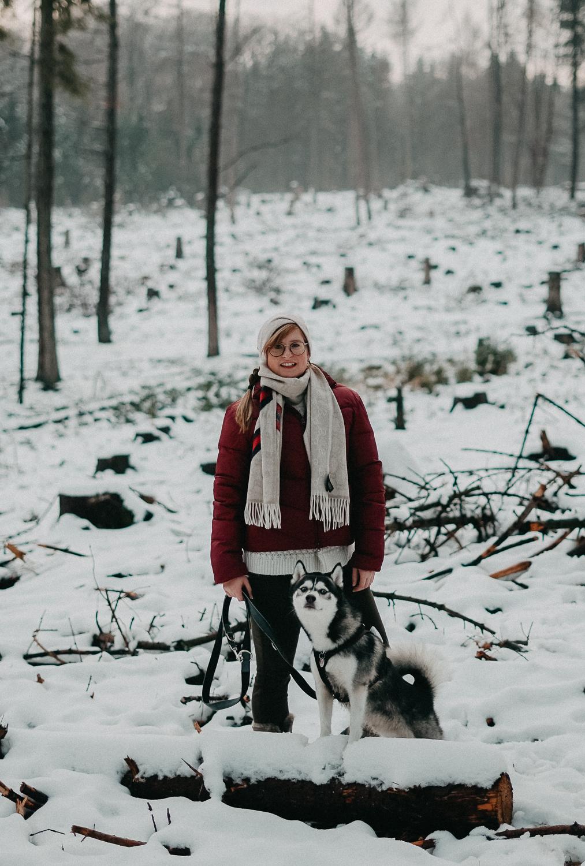 Winterwanderung Siebengebirge Winterlook Wanderlook Schnee Pomsky Fashion Blog Deutschland 3