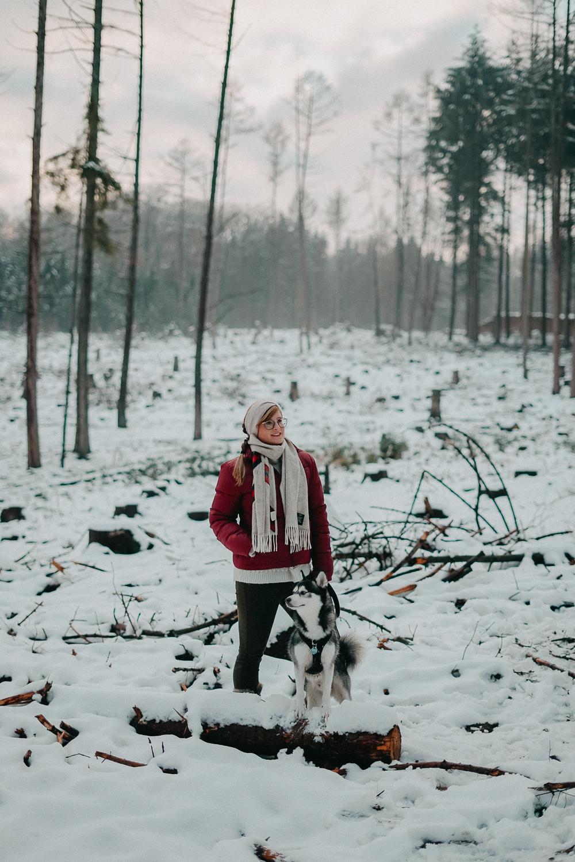 Winterwanderung Siebengebirge Winterlook Wanderlook Schnee Pomsky Fashion Blog Deutschland 6