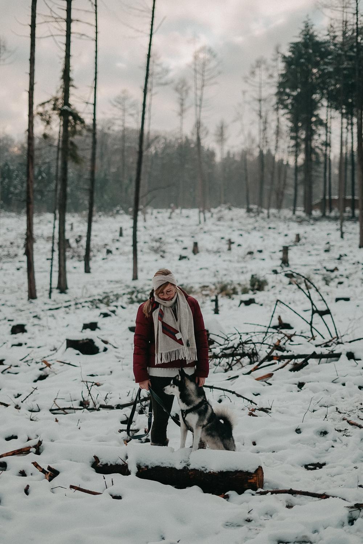 Winterwanderung Siebengebirge Winterlook Wanderlook Schnee Pomsky Fashion Blog Deutschland 8