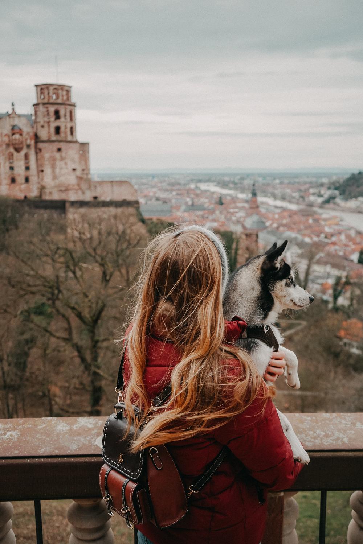 Reisen mit Hund 1 Woche Rundreise Route Heidelberg Hundeurlaub Urlaub Hund Deutschland Reiseblog Pomsky Schloss Heidelberg Aussicht 2