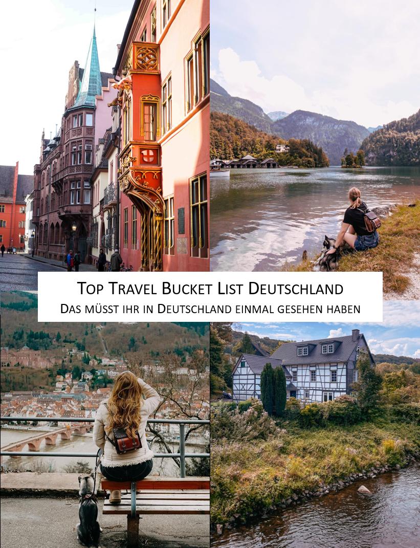 Top Travel Bucket List Deutschland Top Reiseziele Deutschland reisen Sehenswürdigkeiten