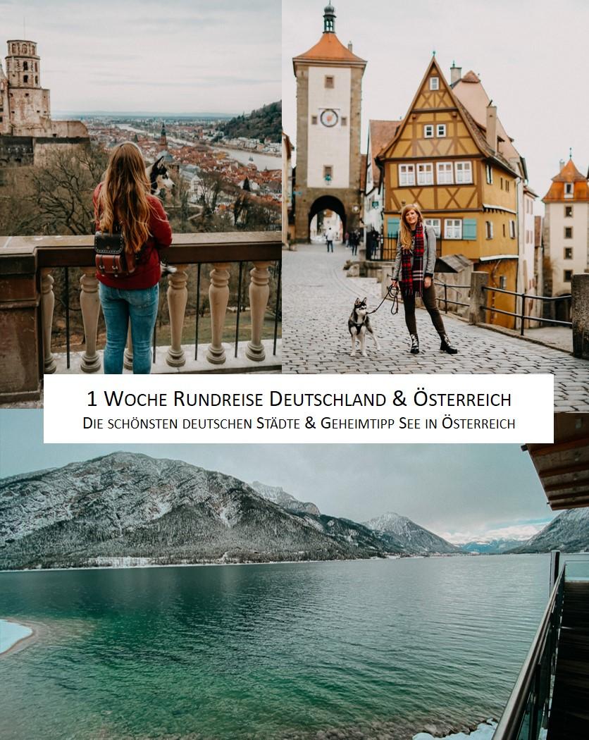 1 Woche Rundreise Deutschland Österreich Heidelberg Rothenburg Achensee Geheimtipp Reiseroute