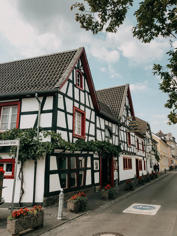Weinwanderung Rhöndorf Wanderung Weinberge Bonn NRW Top Wanderungen Reiseblog Wandertipps Wanderrouten Fachwerkhaus