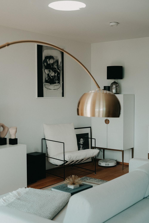 Posterlounge Schwarz Weiß Fotografie Acrylglas Bilder Wohnzimmer Interior Scandinavian Design Einrichtung Ideen Gold
