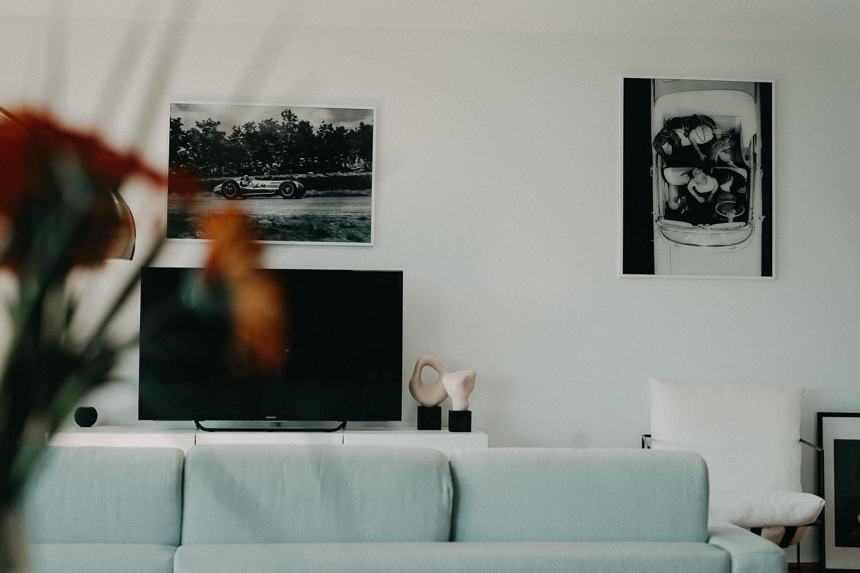 Posterlounge Schwarz Weiß Fotografie Acrylglas Bilder Wohnzimmer Interior Scandinavian Design