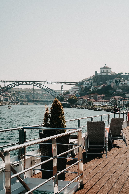 A-ROSA ALVA Flusskreuzfahrt Douro Portugal Reiseblog Sonnendeck Ausblick Porto 2