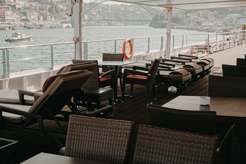 A-ROSA ALVA Flusskreuzfahrt Douro Portugal Reiseblog Sonnendeck Ausblick Porto Tipp