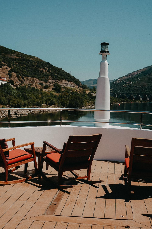 A-ROSA Flusskreuzfahrt Douro Portugal Außenbereich Sonnendeck Reiseblog