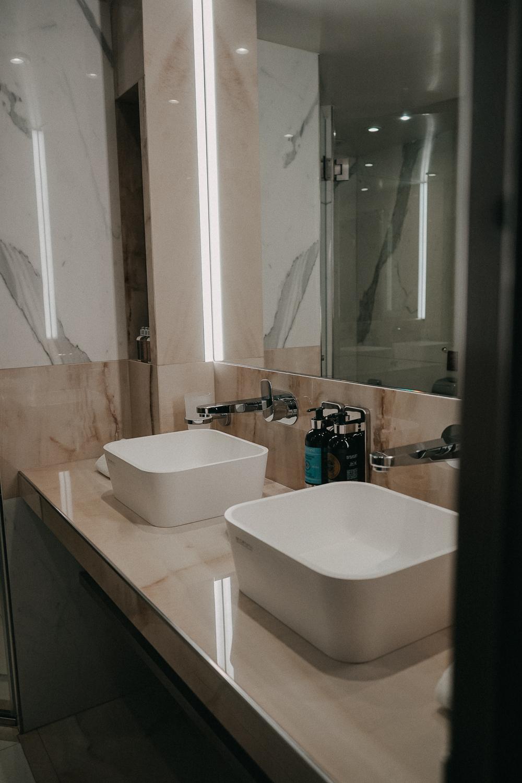A-ROSA Flusskreuzfahrt Douro Portugal Suite Badezimmer Marmor Reiseblog
